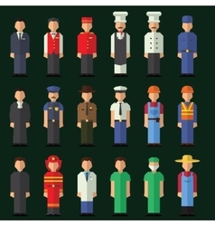 Character icon flat profession se vector image