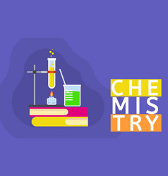 chemistry science concept background flat style vector image
