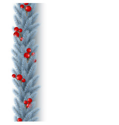christmas vertical garland vector image