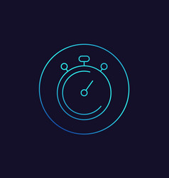 chronometer stopwatch linear icon vector image