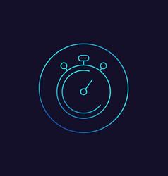 Chronometer stopwatch linear icon vector