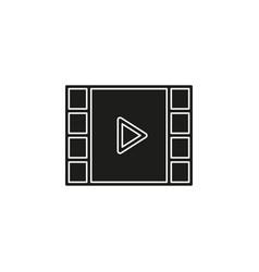 clip play button icon - movie media symbol vector image