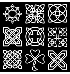 collection celtic knots vector image