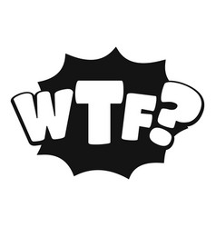 Comic boom wtf icon simple black style vector