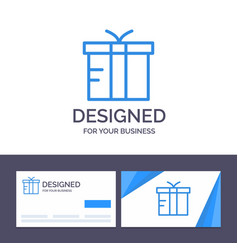 creative business card and logo template box vector image