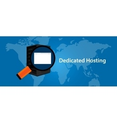 dedicated server web hosting services vector image