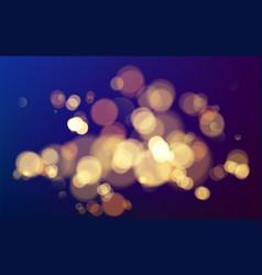 effect bokeh circles christmas glowing warm vector image