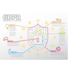 european gdpr concept flyer template vector image