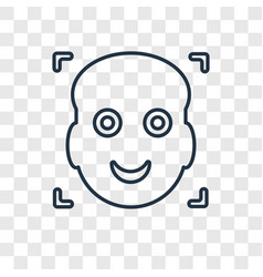 face scan concept linear icon isolated on vector image