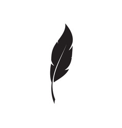 Feather pen logo template vector