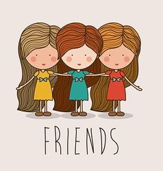 Friends design vector