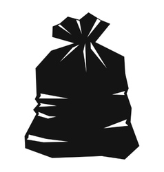 Garbage bag icon simple style vector image