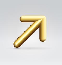 Golden arrow vector image