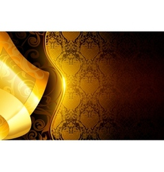 Golden wallpaper background vector image