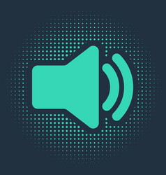 Green speaker volume icon - audio voice sound vector