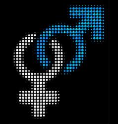heterosexual symbol halftone icon vector image