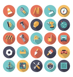 icons flat colors industrial vector image
