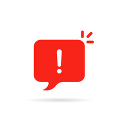 Important icon like red attention sign vector