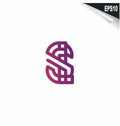 initial si logo monogram design template simple vector image