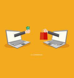 Internet payment concept flat vector