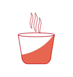 Japanese teacup beverage drink hot shadow vector