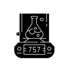 Lab balance black glyph icon vector