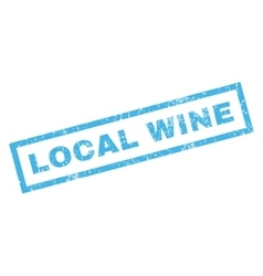Local Wine Rubber Stamp vector
