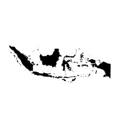 Map indonesia isolated black vector