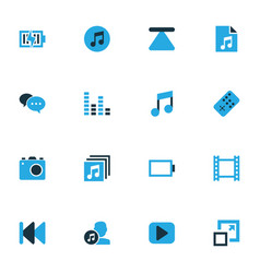 Media colorful icons set collection of energy vector
