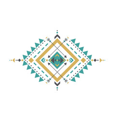 mexican aztec tribal traditional geometric logo vector image
