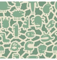 Monsters pattern vector