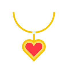 Necklace and ruby heart pendant jewelry related vector