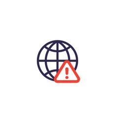 Network alert icon vector