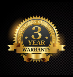One year warranty satisfaction guaranteed vector