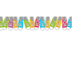 pair shoes on color background in pop art style vector image
