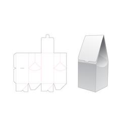 Paper gift bag die cut template design vector