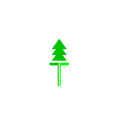 pine tree logo design template vector image
