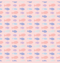 pink pastel fish stripes vector image
