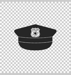 Police cap with cockade icon isolated vector
