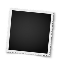 Retro realistic square photo frame with figured vector