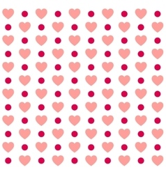 seamless valentines day polka dot red pattern vector image