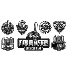 set of beer badges vector image