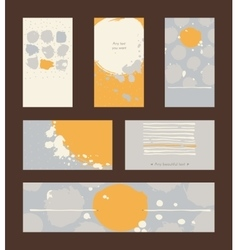 Set of hand drawn horizontal and vertical business vector image