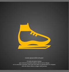 skates icon simple shoe element boot symbol vector image