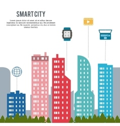 Smart city design vector image