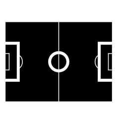 soccer field the black color icon vector image