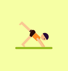 Sport player gymnast boy vector
