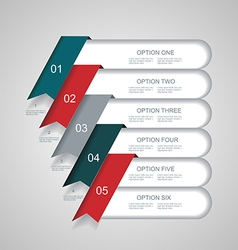 steps lines progress banners with colorful tags vector image