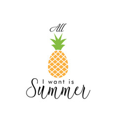 summer quote lettering typograhpy vector image