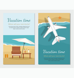 Summer vacation and tourism vector